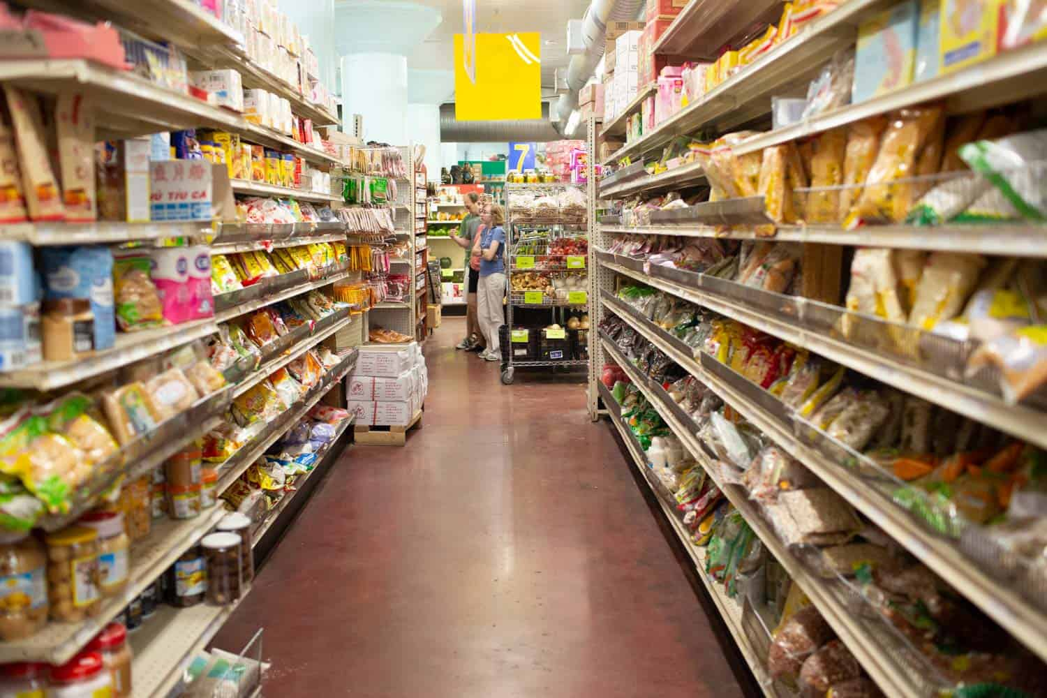 asian grocery store aisle