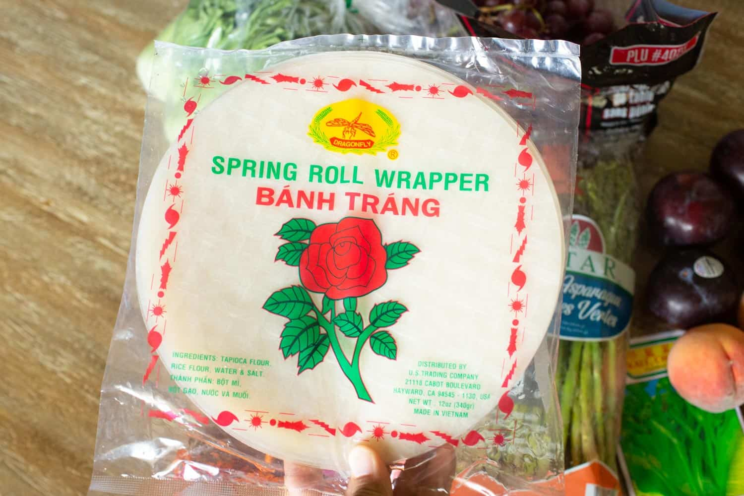 asian grocery store spring roll paper