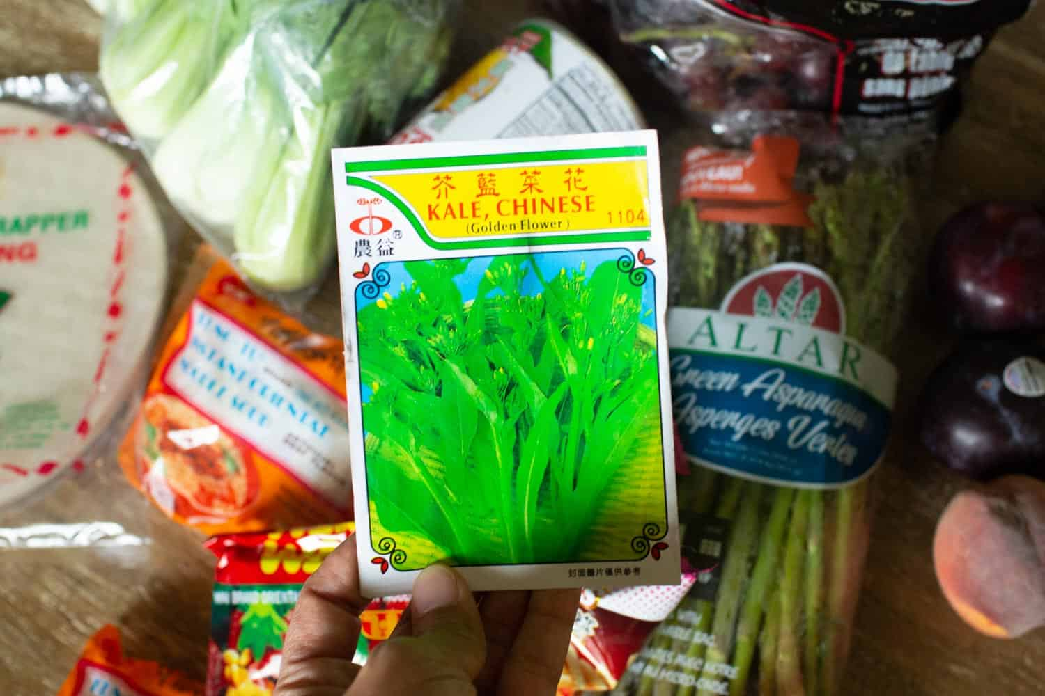 asian grocery store seeds for chinese kale