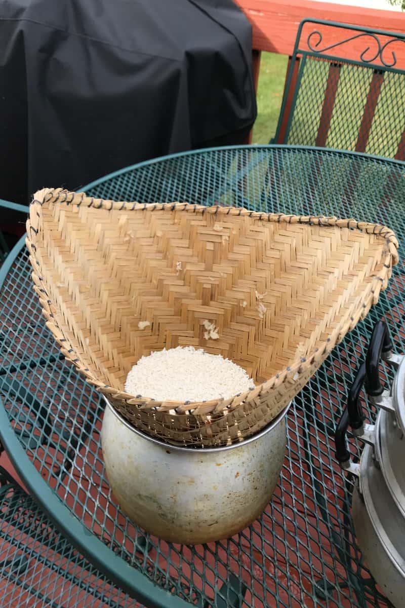 sticky rice steamer and basket