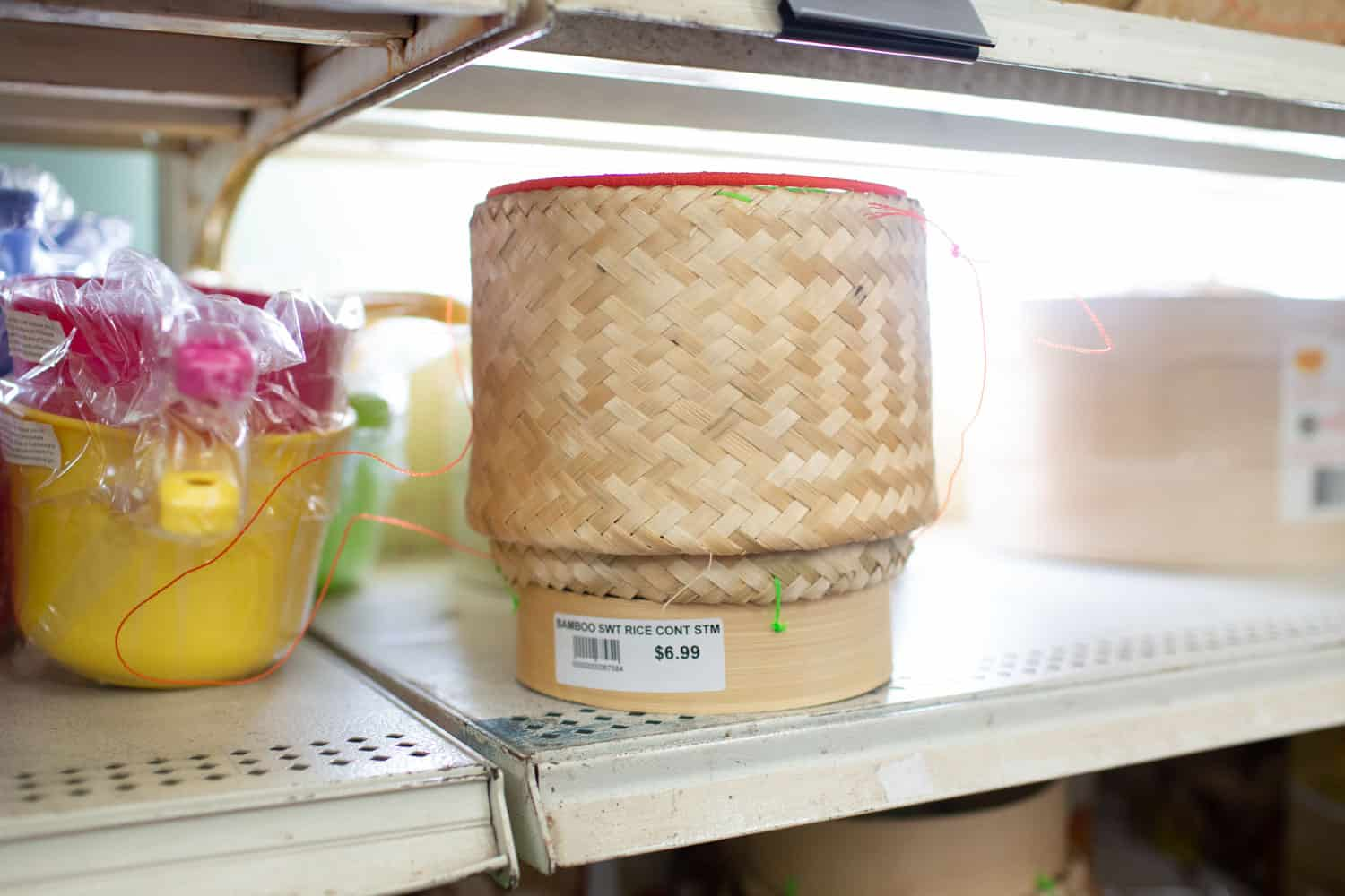 lao bamboo basket for sticky rice