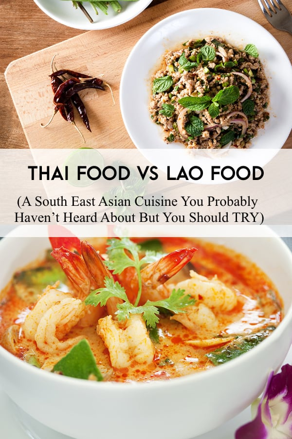 thai food versus lao food comparison one another