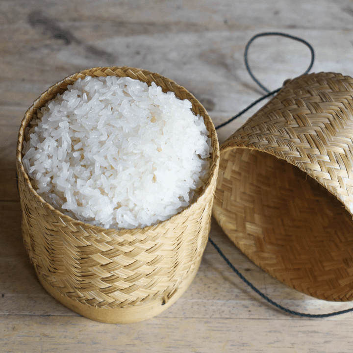 Sticky Rice Using Microwave