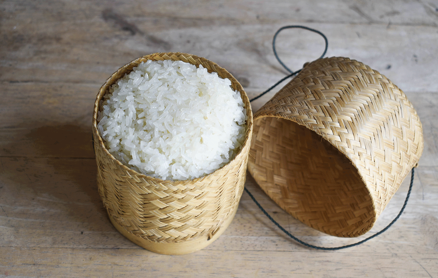 how to make sticky rice khao niew in bamboo basket