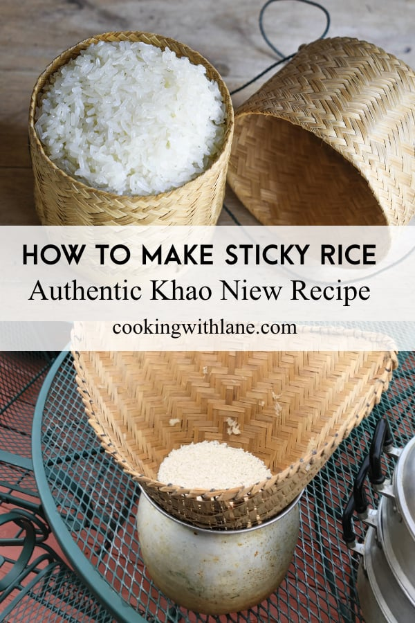 how to make sticky rice khao niew