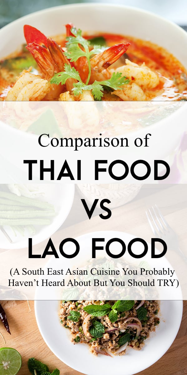 thai food versus lao food