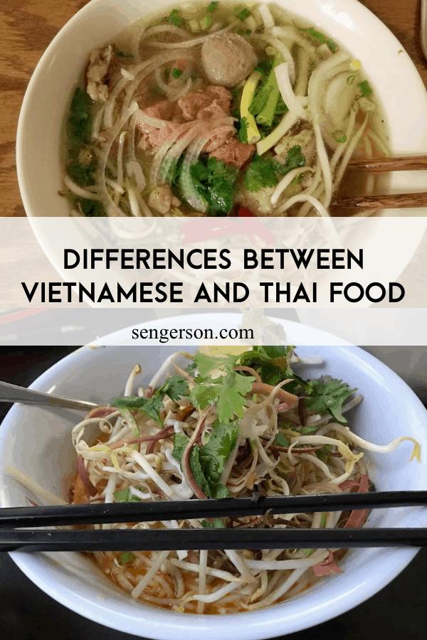 vietnamese pho and thai ka poon difference