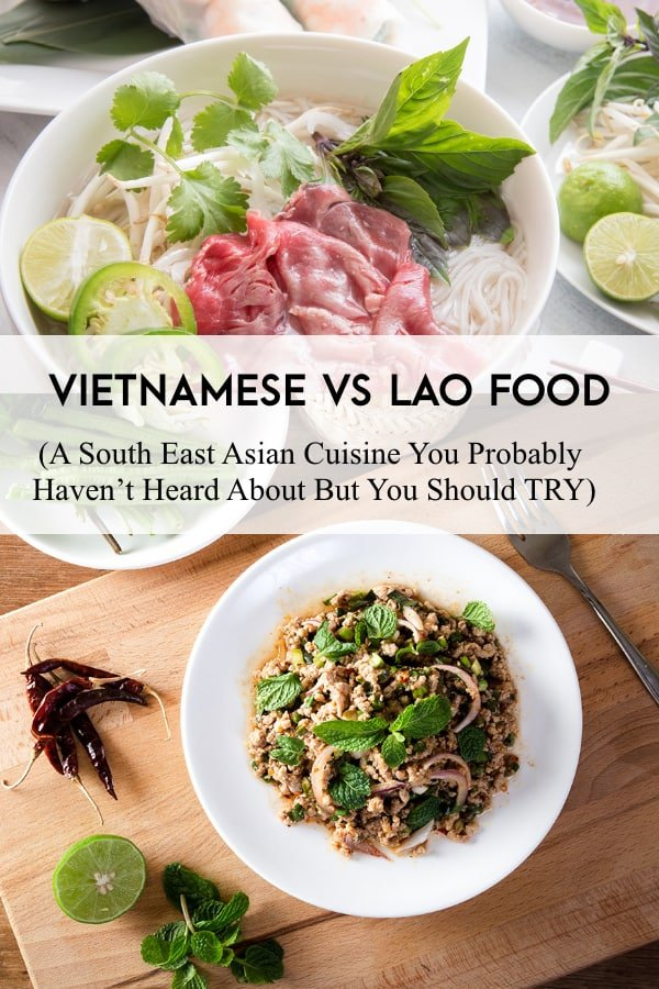 difference between viet food and lao food