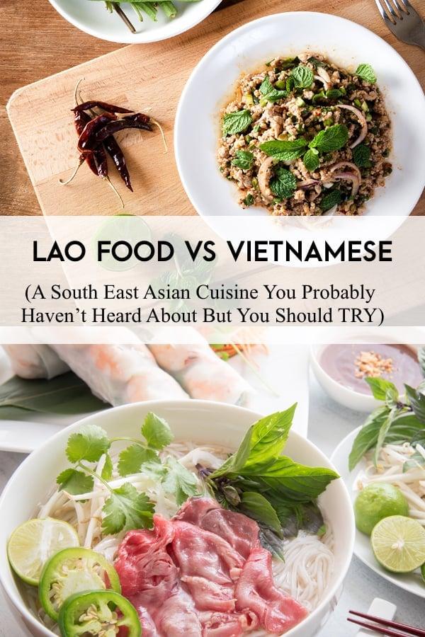 lao vs viet food