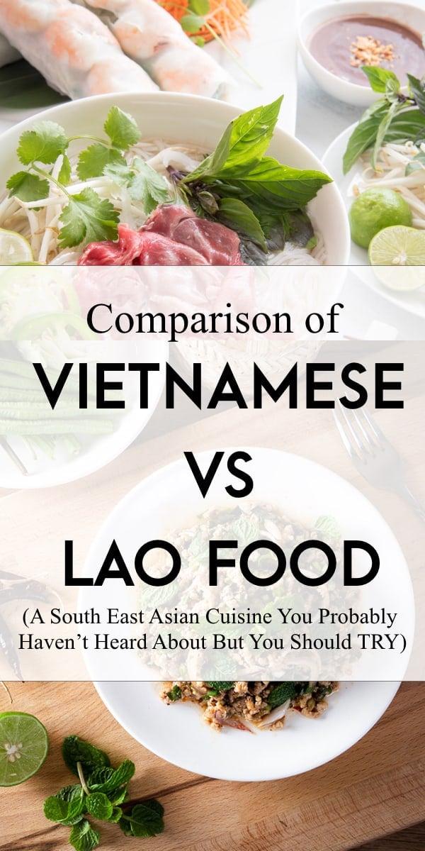 vietnamese cuistine versus lao cuisine
