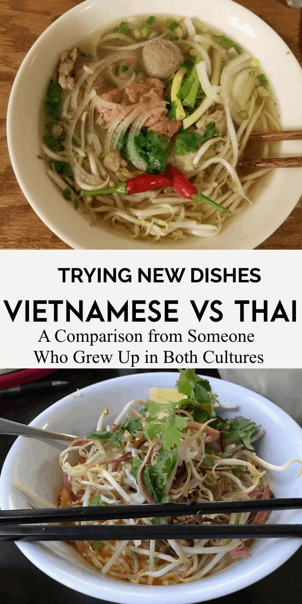 vietnamese food versus thai food