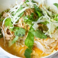 How to Make Authentic Lao Khao Poon - Red Curry Coconut Soup Recipe