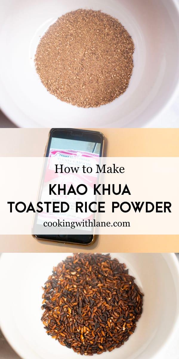 khao khua recipe - toasted rice powder brand