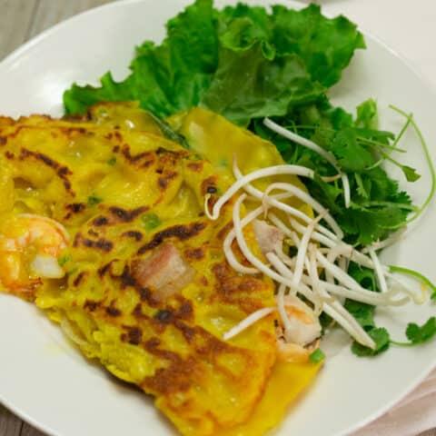 Banh Xeo Recipe Authentic Vietnamese Crepe Pancake