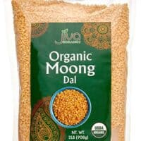 Jiva USDA Organic Moong Dal Yellow - 2 Pound (Split Mung Beans Washed)