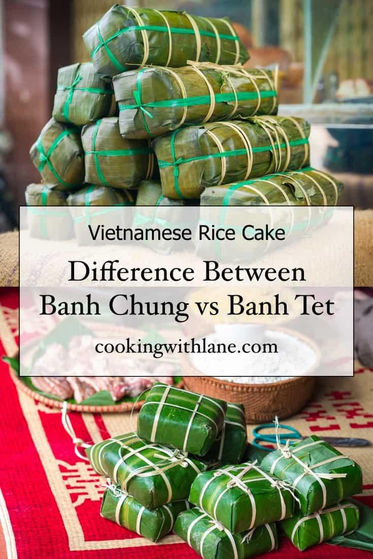 banh tet vs banh chung comparison