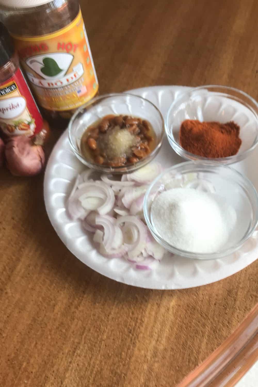 thai fermented soybean meat dipping sauce