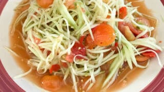 Authentic Lao Style Green Papaya Salad Recipe (Delicious & Flavorful)