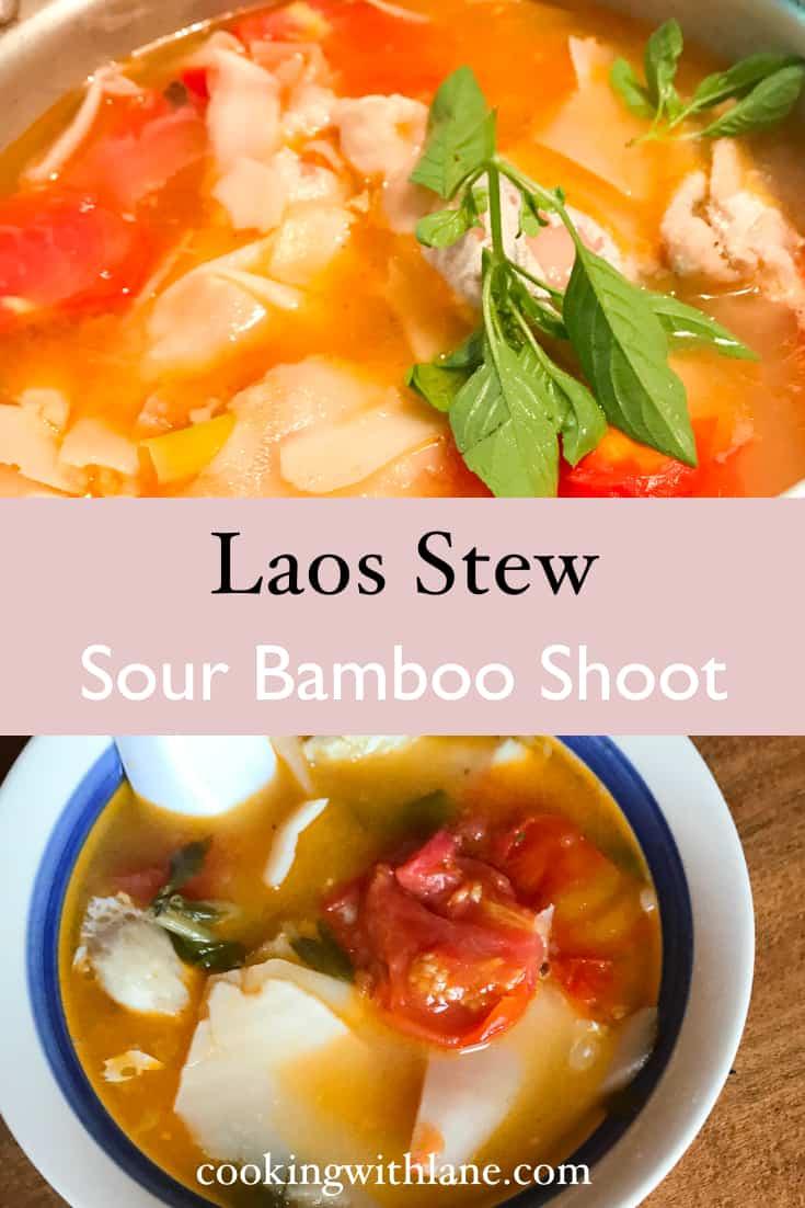 lao sour bamboo stew - gang naw mai