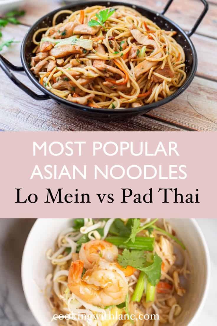 lo mein versus pad thai