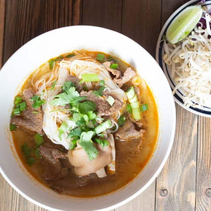 Bun Bo Hue - Vietnamese Spicy Noodle Soup