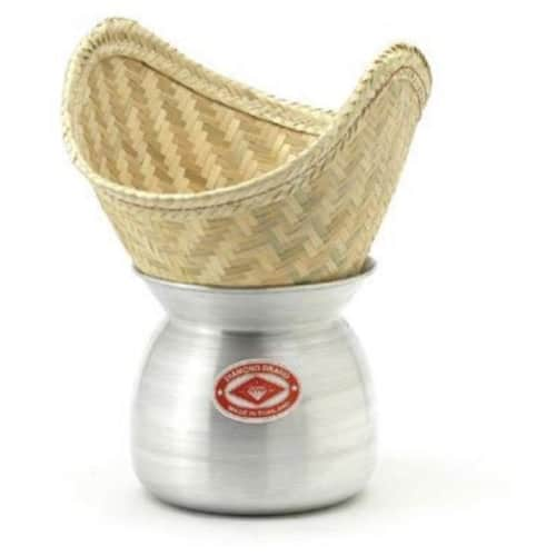 how to clean sticky rice steamer basket