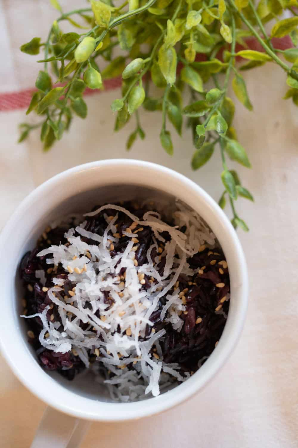 Thai black sticky rice