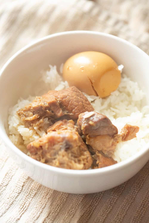 tom khem lao braised pork belly and eggs