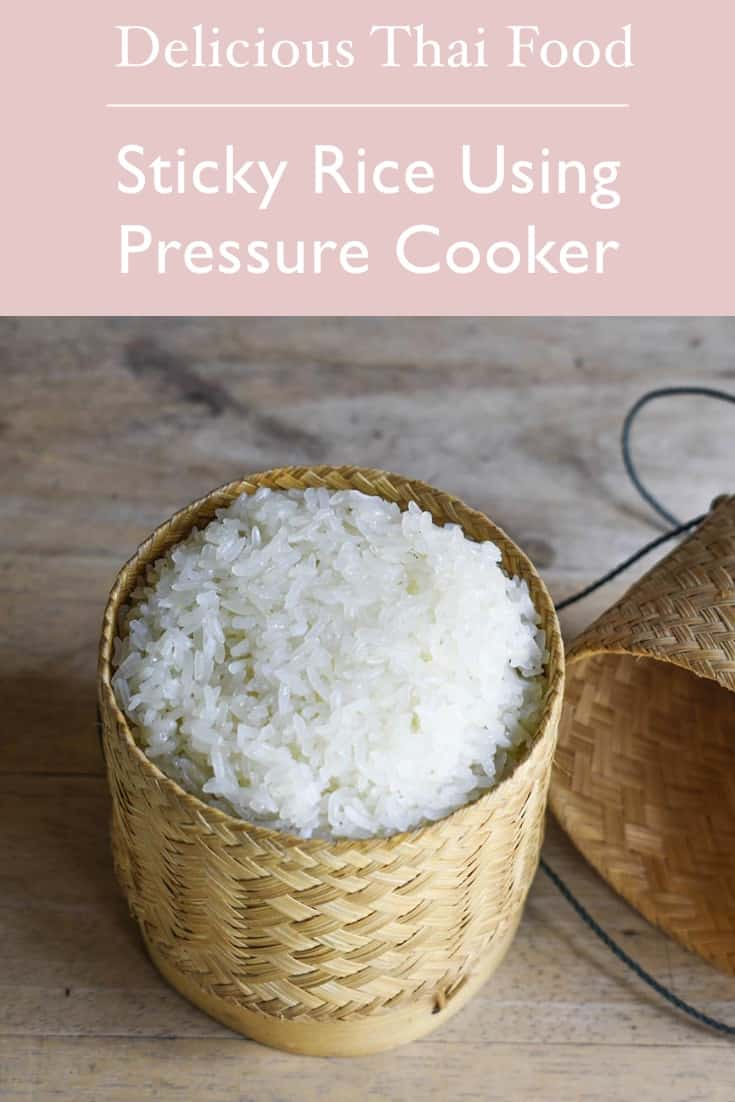 Sticky rice using pressure cooker