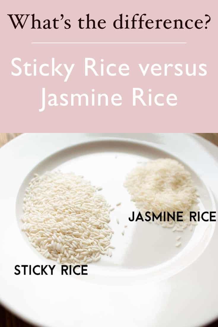 jasmine rice versus sticky rice