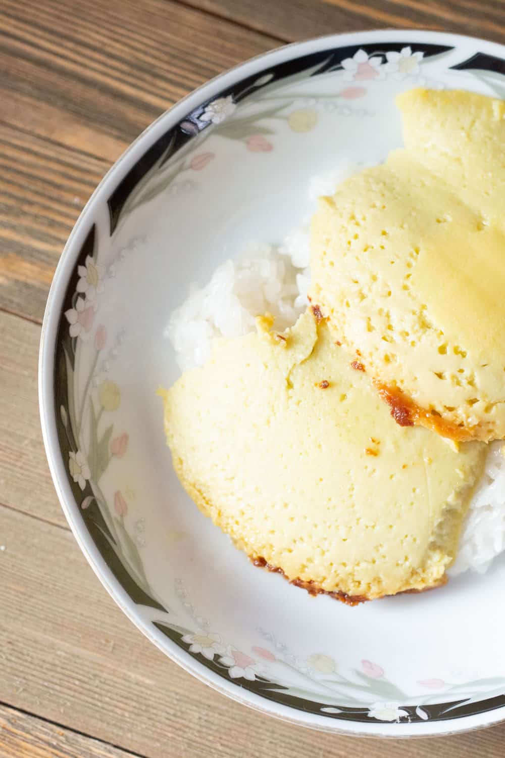 thai custard with coconut sticky rice