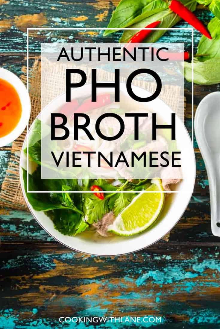 Easy Vietnamese pho broth recipe