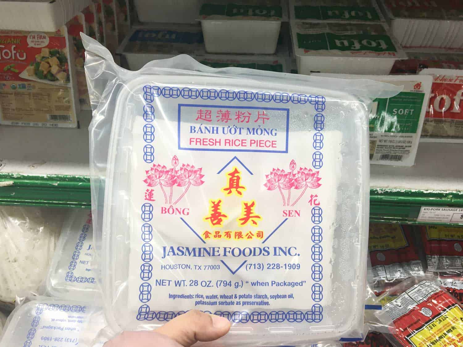 fresh rice noodle sheets large package