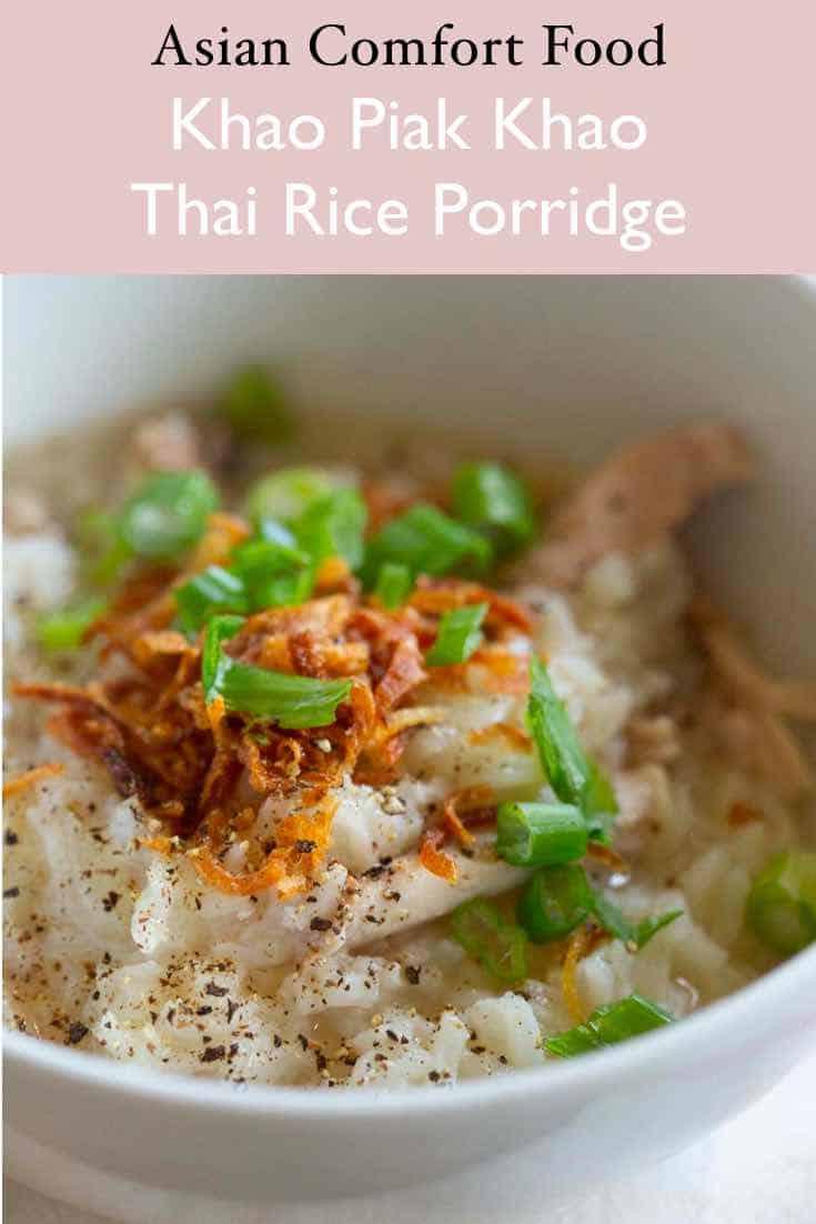 Khao piak Khao asian rice porridge