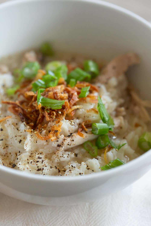 khao piak khao gai - chicken rice porridge 063