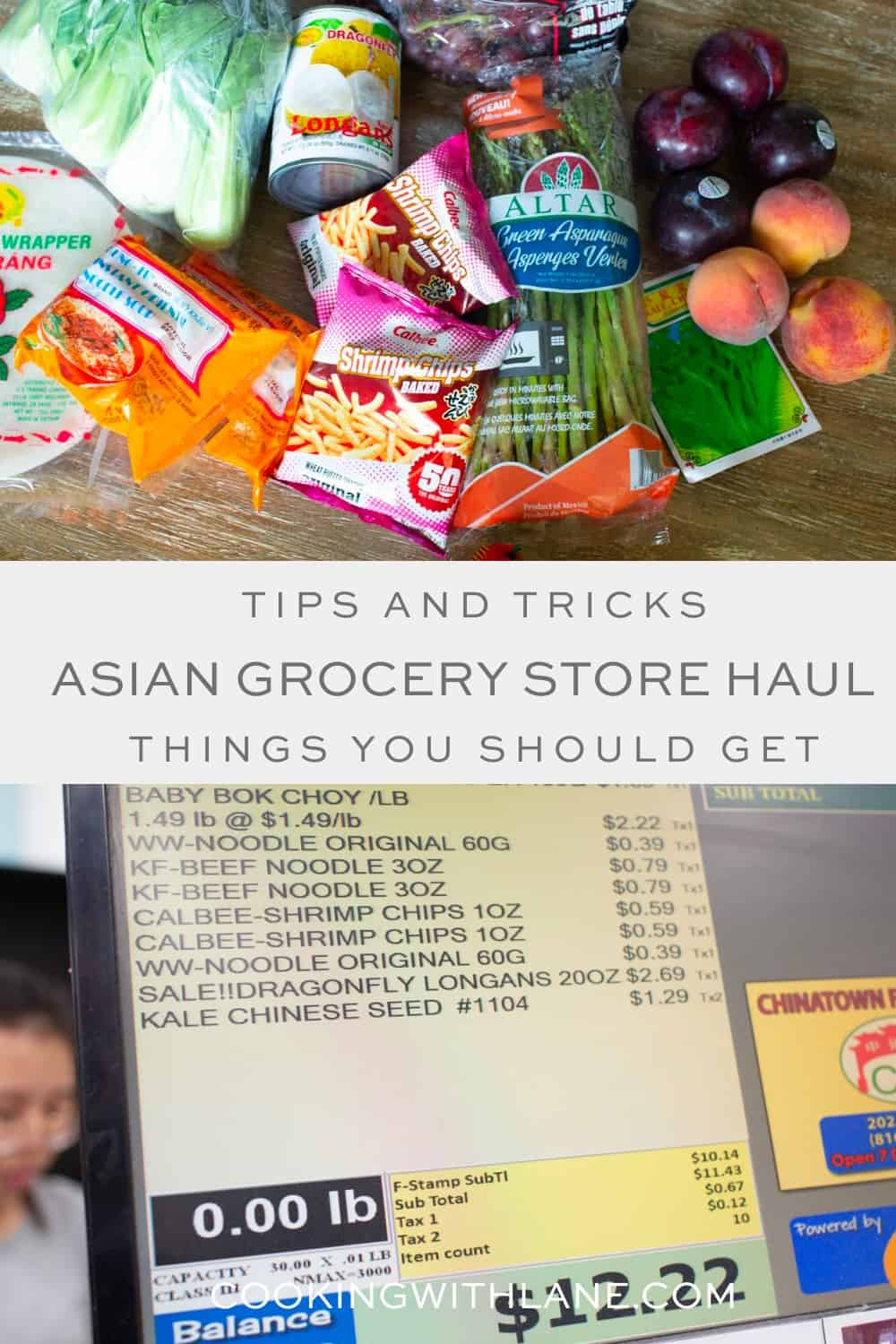Asian grocery store and market with ingredients