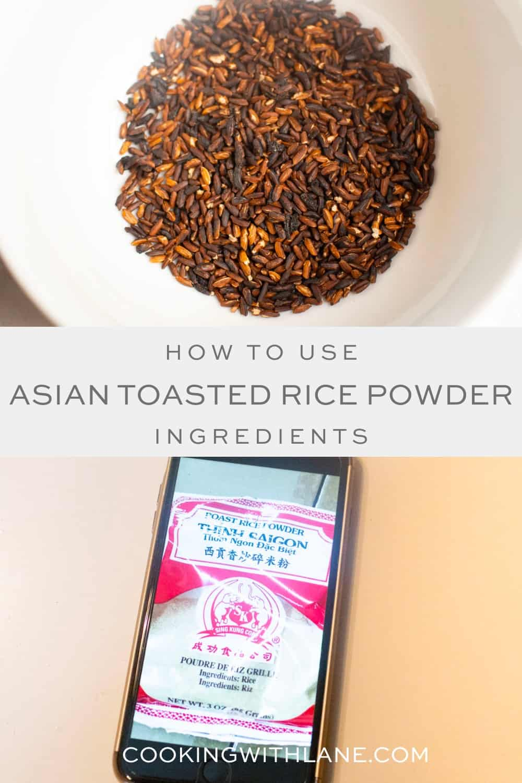 Toasted Rice Powder called Khao Khua