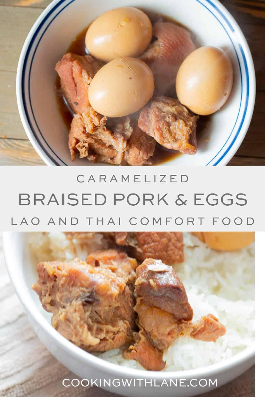 Braised pork and eggs lao comfort food