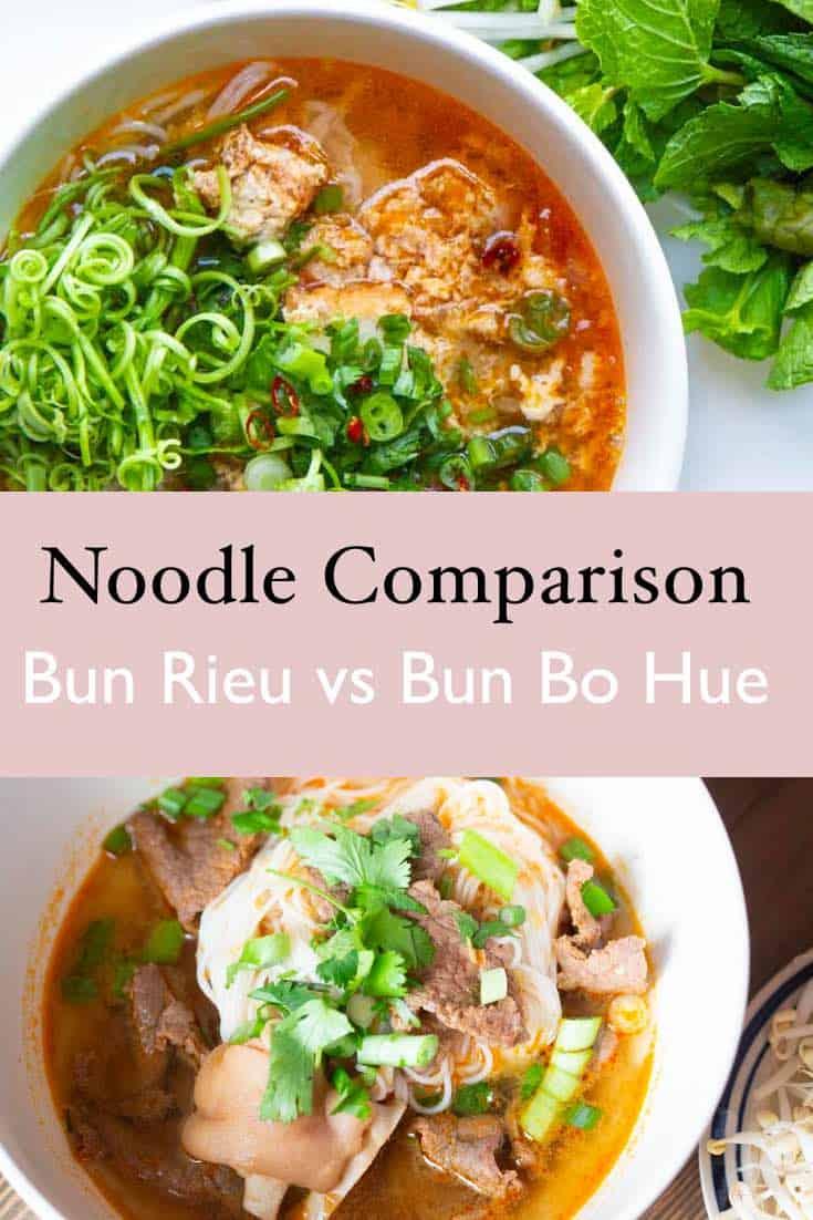 Bun Rieu versus bun bo hue