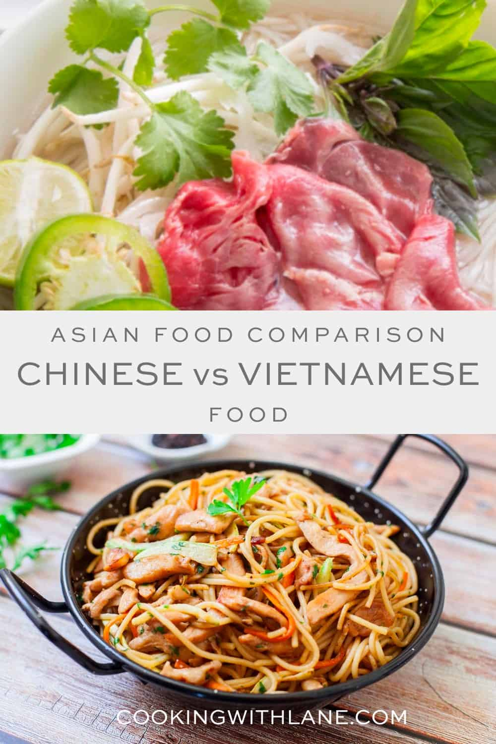 Learn differences between Chinese and Vietnamese food