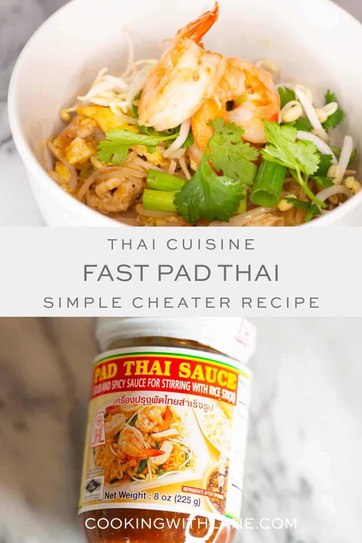 pad thai with premade sauce