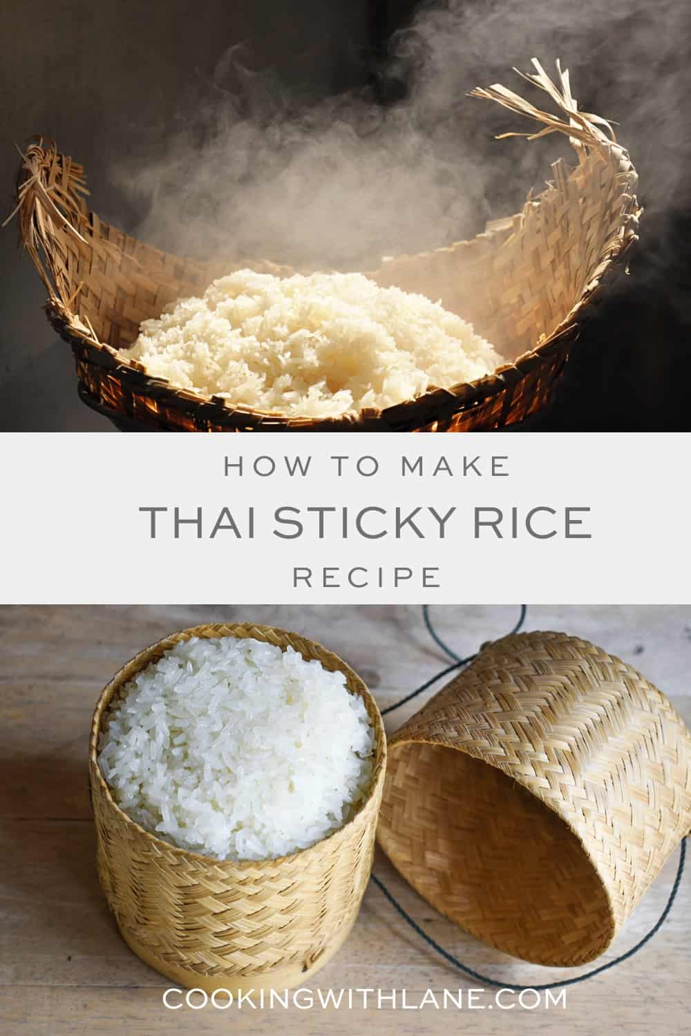 Sticky rice from Laos and Thailand