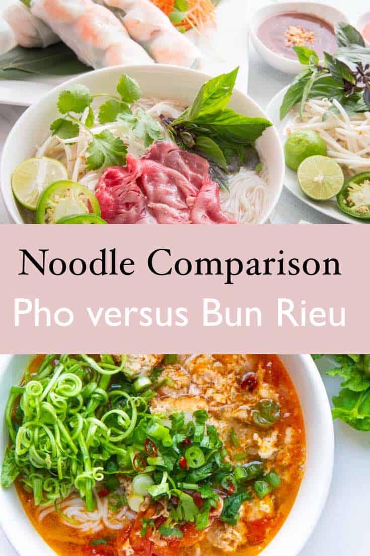 Pho versus bun rieu