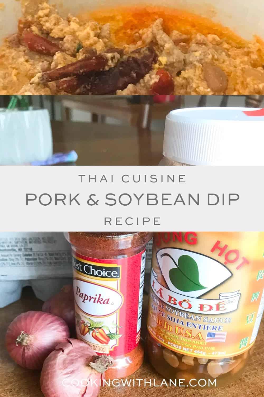 Thai pork and soy bean bowl recipe