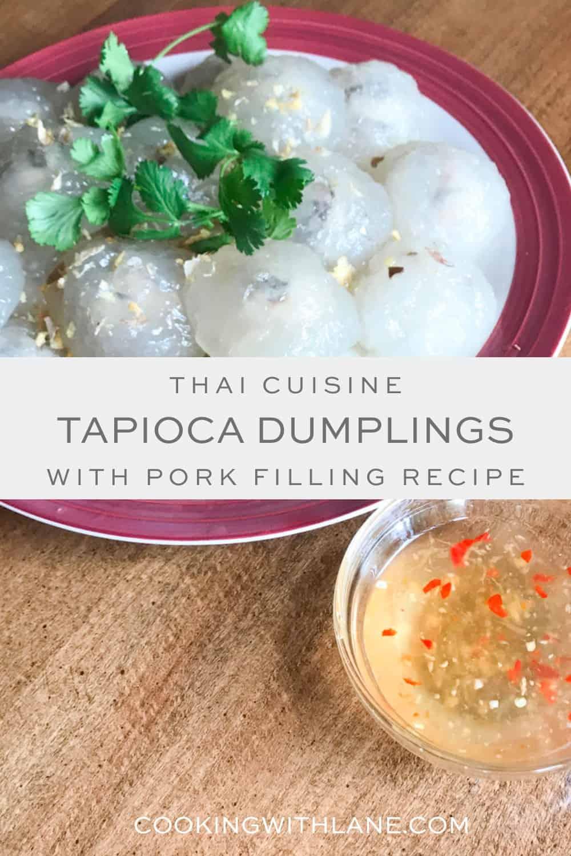 tapioca dumplings lao version