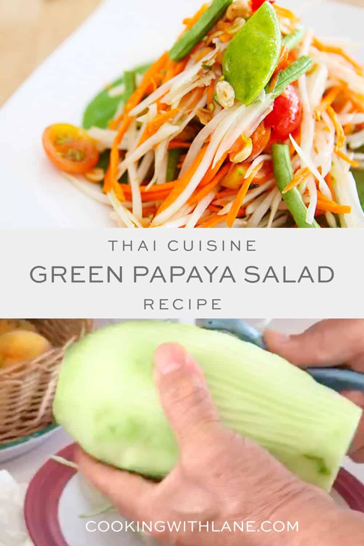 Lao papaya salad | Laos papaya salad | green papaya salad | thai green papaya salad