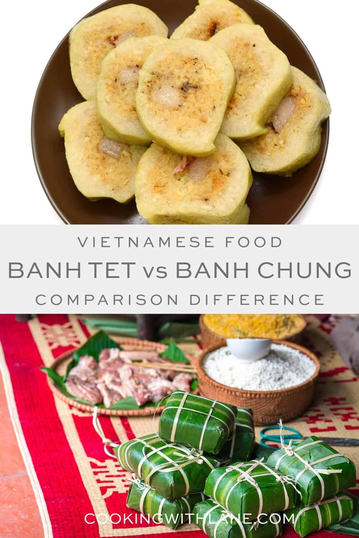 banh tet and banh chung comparison