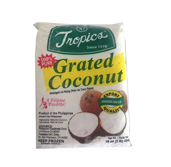naem khao ingredient coconut grated
