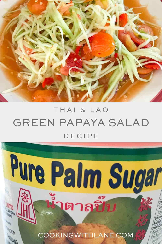 green papaya salad thai and lao