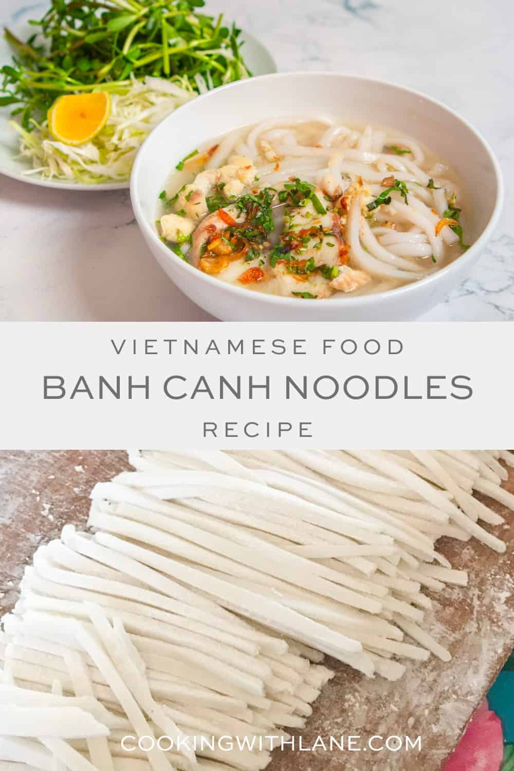 Vietnamese banh can recipe with homemade noodles